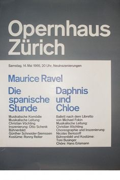 Josef Müller-Brockmann MAURICE RAVEL [ 128CM X 90CM ] via www.blanka.co.uk