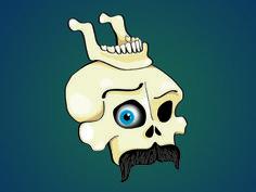 Skull Mandibull #illustration #mustache #mandibull #skull