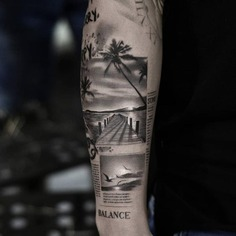 Black and white tattoo - SUMMER VIBES BE LIKE