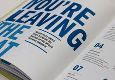 Flatmate's Handbook #list #modern #design #book #numbers #type #layout #blue #typography