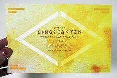 Kings Canyon - Brenna Signe #direct #design #graphic #logo #postcard #mail
