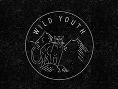 Wild-youth #classic #orange #illustration #nature #panther #tiger #animal