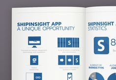 ShipInsight Media // Brochure on Behance #charts #graphics #infographics #print #infographic #graphic #icons #info #stats #marine #blue