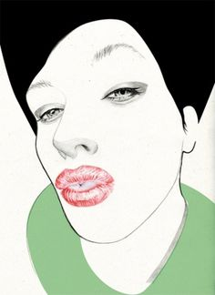 kiss instruction | Denise van Leeuwen #illustration