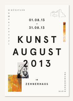 Kunstaugust 2013 – Print design for an exhibition featuring 12 artists in Bad Radkersburg.