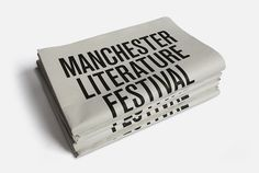 Manchester Literature Festival 2010 MARK #cover #newsprint #editorial