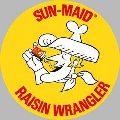 All sizes | Sun Maid Raisin Wrangler Sticker - 1960's | Flickr - Photo Sharing! #illustration #vintage #logo #retro