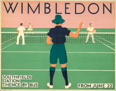 wimbledon poster / monotype johnston #monotype #typography #wimbledon #tennis #vintage