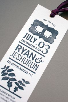 Ryan and Jeshurun Wedding Invitation #wedding #stationary #invitation