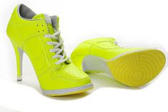 Female Dunk Low Heels Trainers New Colorways Green/Yellow #heels