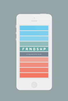 FRNDSHP #iphone #app #color #flat #frndshp