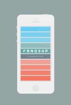FRNDSHP #flat #frndshp #color #iphone #app