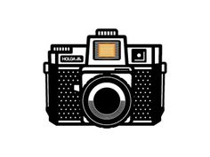 Dribbble - Holga by Ryan Harrison #icon #logo #illustration #camera