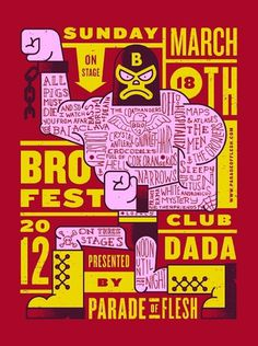 Parade Of Flesh BROFEST #type #illustration #gig #poster