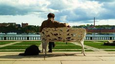 Stock Home 2011 on Behance #sweden #wallb #bench #stockholm #man #dog
