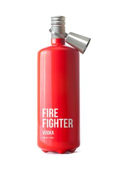 Fire Fighter Vodka Packaging, by Timur Salikhov #graphic design #design #creative #packaging #red #inspiration