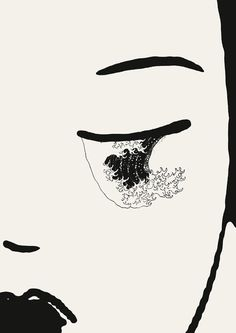 Javier Jaen; http://off-the-wall-b.tumblr.com/ #woman #jaen #tear #illustration #lady #javier