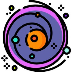 See more icon inspiration related to space, planet, miscellaneous, black hole, astronomy, galaxy, science, stars and nature on Flaticon.