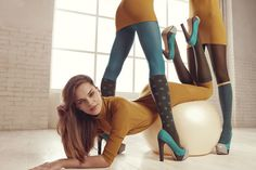 Goldenpoint F/W tights on Behance #models #ball #aerobic #crazy #fashion