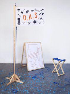 O.A.S. #flag #illustration #graphic