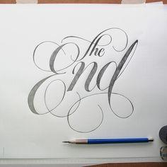 The End - Handlettering Sketchbook byJason Vandenberg #lettering #the end #typography