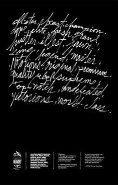 Penmanship | Neuarmy™ #script #print #texture #poster #typography
