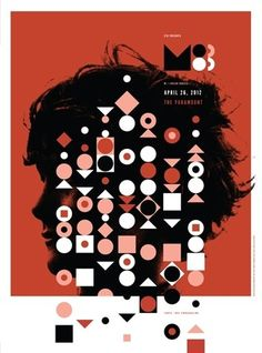 M83 concert poster by Invisible Creature