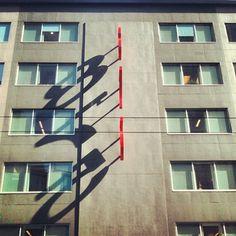 Instagram #numerals #sunlight #signage #shadow