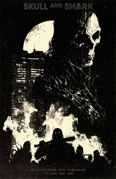Skull and Shark Comic, Soundtrack, T Shirts Coming Soon!DaveRapoza.com #dave rapoza #skull and shark