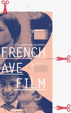 FRENCH NEW WAVE FILM poster on Behance #print #book #poster #film