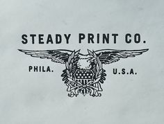 Steady Print Shop Co. #steady #print #co #eagle #logo