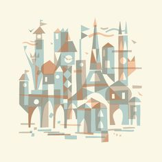 LANDMARKS OF THE WORLD 16 - Chris Turnham #illustration #hand #chris #turnham