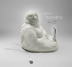 BOODHA by Diploo ˘•˘ #diploo #usb #design #ceramic #fun #dock