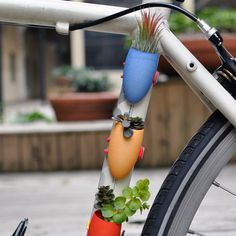 Bike Planters #tech #flow #gadget #gift #ideas #cool
