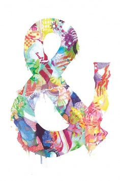 Ampersand artworks by Kirsten McCrea I Art Sponge #pattern #color #ampersand #illustration #kirsten #mccrea