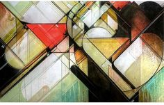 keepdrafting.com » Acrylic | Watercolor | Enamel #retro #futurist #geometric #illustration #collage
