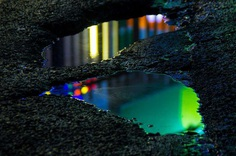 Wet Neon: Magical Reflections In Street Puddles by Slava Semeniuta