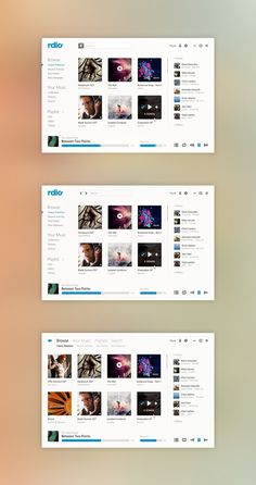Rdio GUI by Phyek #interactive #uxui #design #interface #web