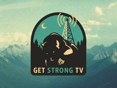 Gstv_logo_proposal #vector #branding #logo #bear #tv