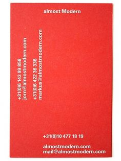 almost Modern : Business #card #helvetica #business #typography