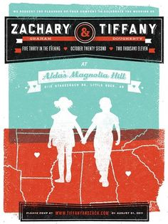 Zachary and Tiffany Wedding Invitation - FPO: For Print Only #print #invitation