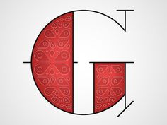 Dribbble - G by Chris Rushing #lettering #letters #typography #letterforms #type #dropcap