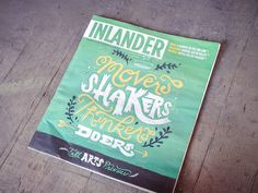 Inlander Fall Arts Preview #cover #lettering #magazine #green