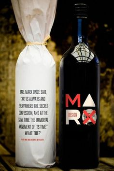 Marx Wine - Wine Packaging Blog - The Dieline Wine #packaging #type #typography