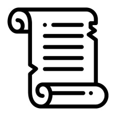 See more icon inspiration related to scroll, parchment, paper, art, egypt, old paper, files and folders, cultures, old scroll, scroll outline, ancient scroll, history and education on Flaticon.