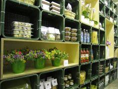 """milk crate shelves"" #shelf #crate"