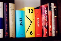 Book Clock | Colossal #clock #books