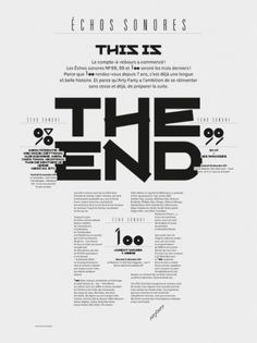 Superscript² / Échos Sonores - The End #france #poster #typography