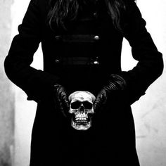RANDOM INSPIRATIONS « CLOTHESPIRACY #white #hands #black #coat #skull