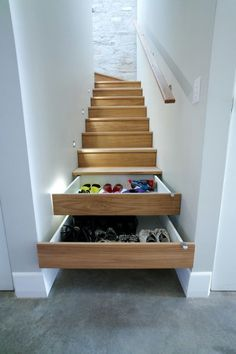 Functional stairs | Decor. Future Home #stairs #storage #decor #home
